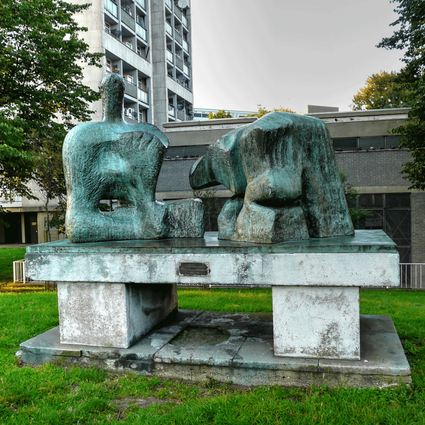 Loz Pycock - Flickr: Henry Moore's 'Two Piece Reclining Figure No 3', Brandon Estate