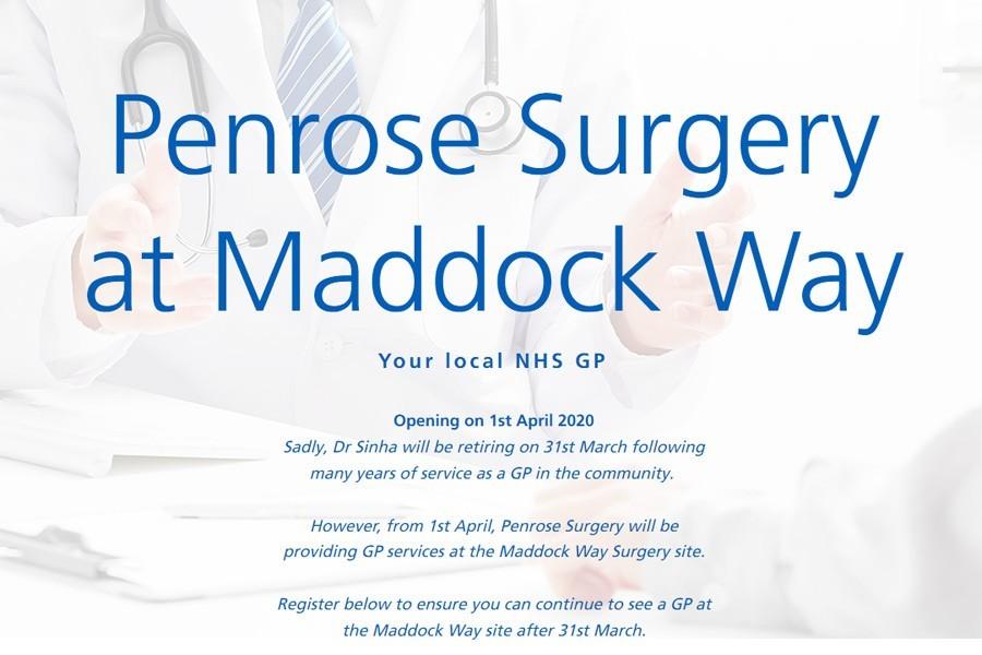 penrose-maddock-way medical practice surgery plus link to www.penrosemaddockway.co.uk