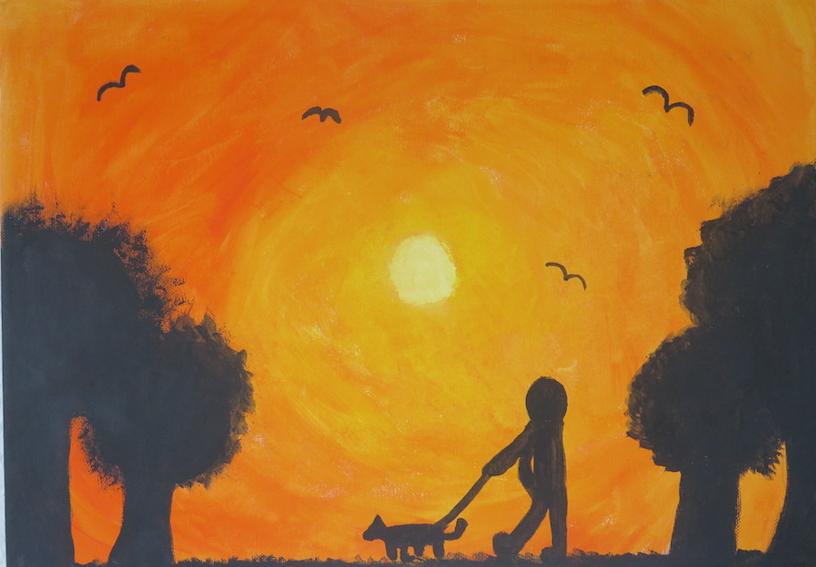 A walk in the sunrise by Kayleigh Moreira - Click to vote